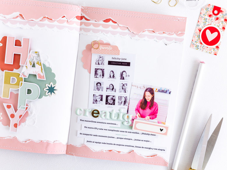A5 Notebook Spread by Celes Gonzalo for Felicity Jane
