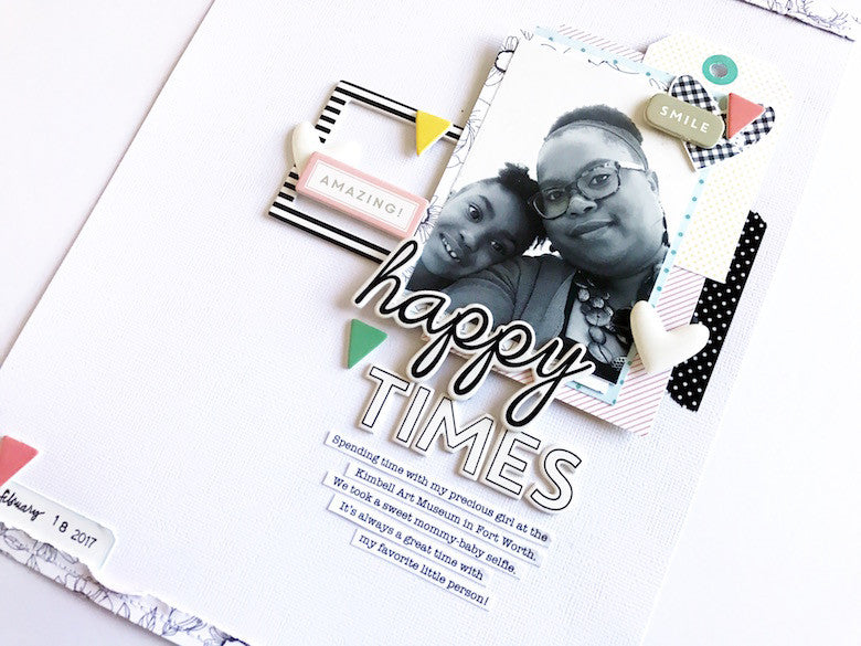 Happy Times layout by Victoria Marie | @FelicityJane