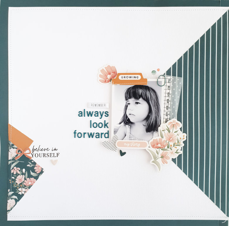 Scrapbook Layout by Anna Blades for Felicity Jane