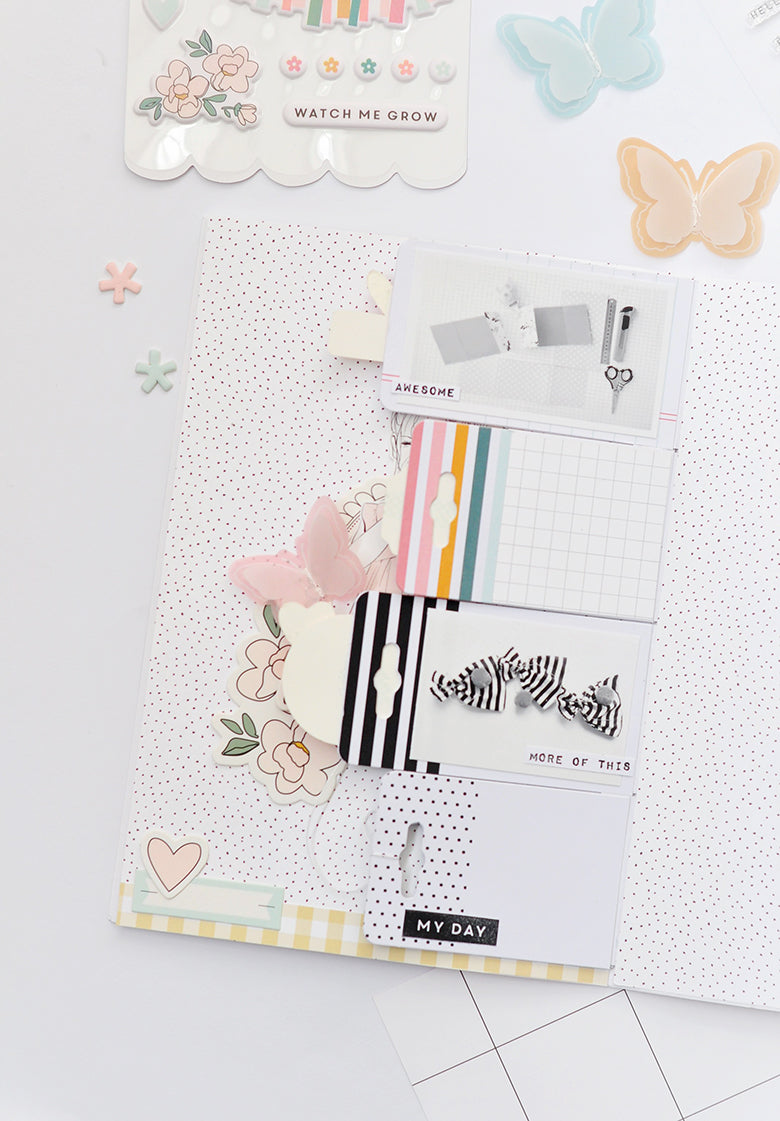 A5 Notebook Spread by Tati Pereira for Felicity Jane