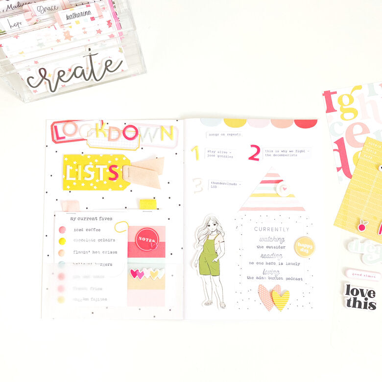 A5 Notebook Spread by Danielle Menage-Jensen for Felicity Jane