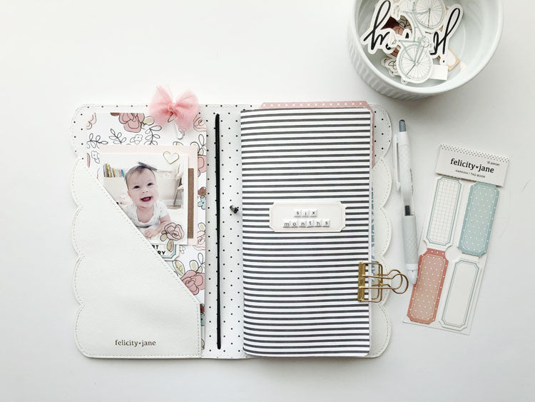 Scalloped Traveler's Notebook Keepsake 1 | Sarah Zayas | Felicity Jane