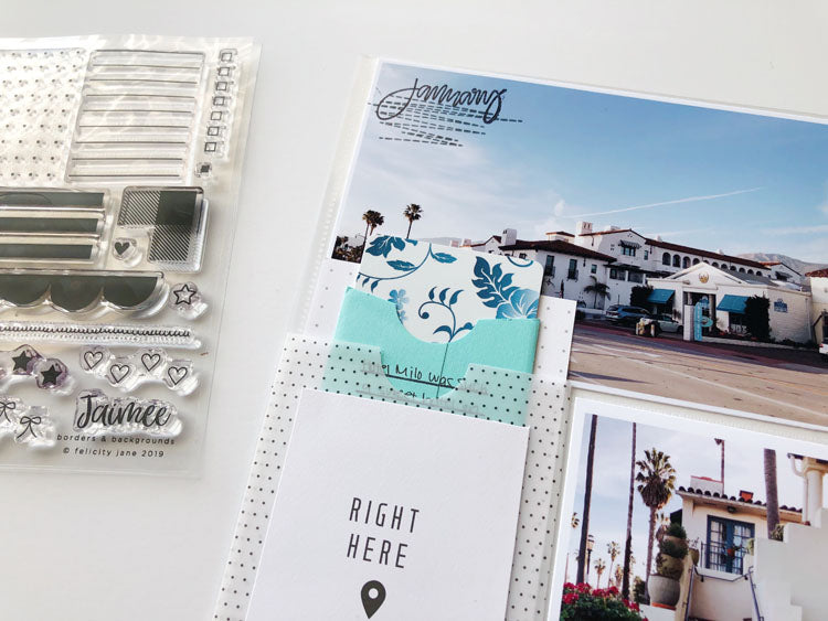 6x12 Pocket Page Layout Using Jaimee Kit 2 | Sarah Zayas | Felicity Jane