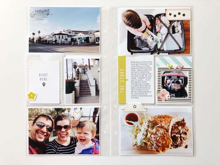 6x12 Pocket Page Layout Using Jaimee Kit 5 | Sarah Zayas | Felicity Jane