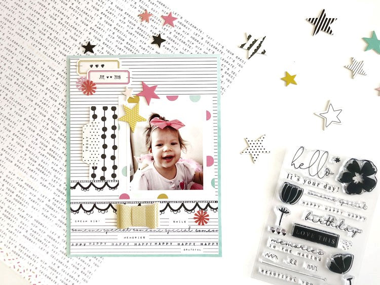 Scrapbooking Layout by Sarah Zayas for Felicity Jane