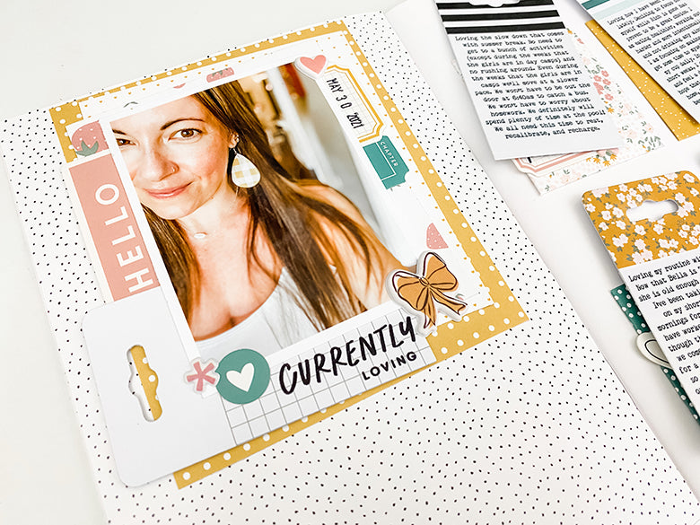 A5 Notebook Spread by Shannon Dombkowski for Felicity Jane