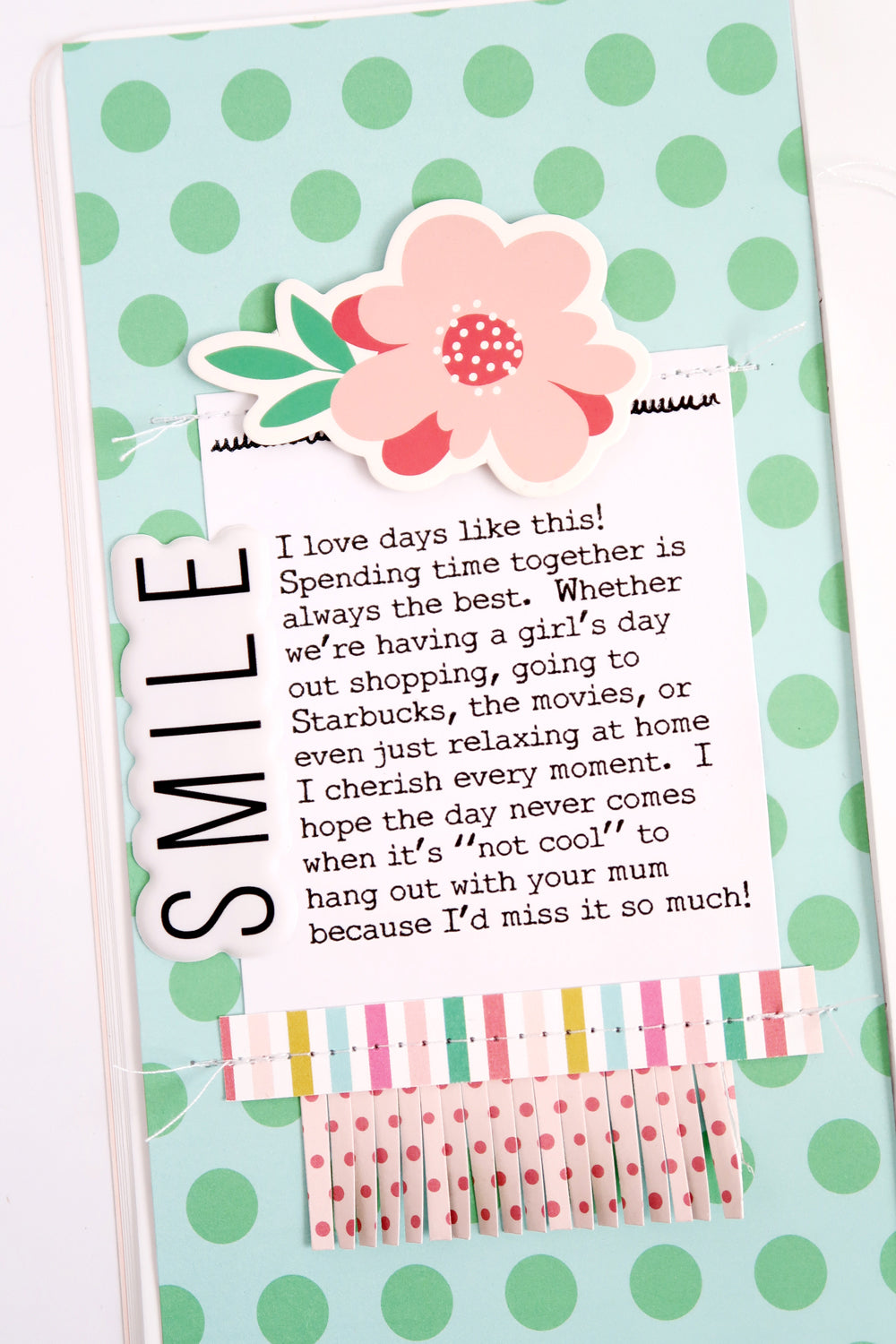 SMILE! a Travelers Notebook Spread 2 | Sheree Forcier | Felicity Jane