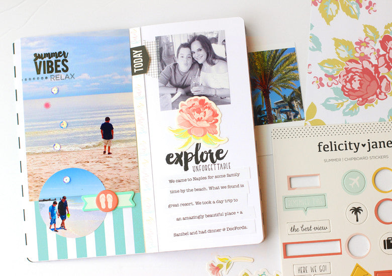 Stamped Traveler's Notebook by @nancydamiano | @felicityjane