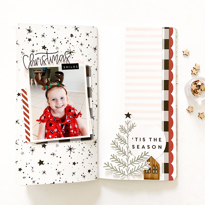 TN Layout 'Christmas Smiles' with Holly Kit 1 | Mandy Melville | Felicity Jane