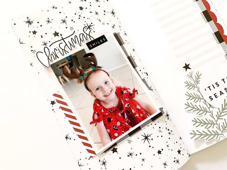 TN Layout 'Christmas Smiles' with Holly Kit 2 | Mandy Melville | Felicity Jane