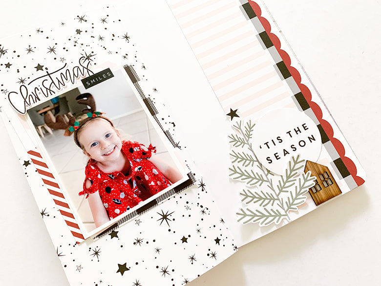 TN Layout 'Christmas Smiles' with Holly Kit 4 | Mandy Melville | Felicity Jane