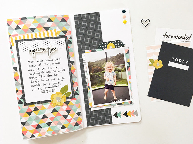 My Happy Place Traveler's Notebook Spread by Mandy Melville | @FelicityJane