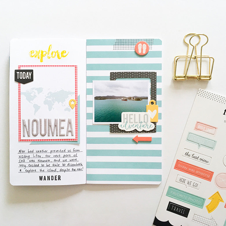 Noumea Traveler's Notebook Spread by Mandy Melville | @FelicityJane