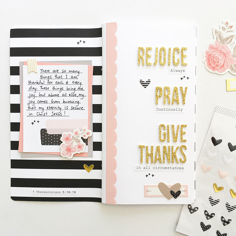 Rejoice Traveler's Notebook Spread by Mandy Melville | @FelicityJane