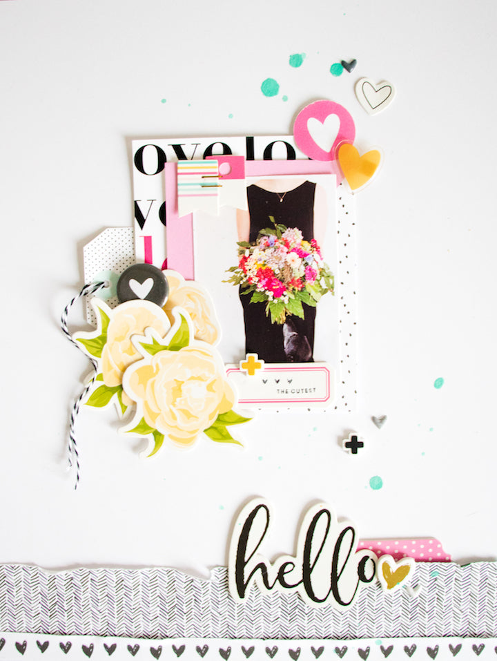 the cutest scrapbooking layout scattered confetti felicity jane