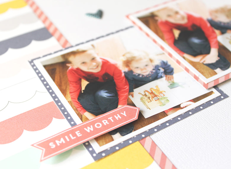 They Love Reading Layout by Mandy Melville | @FelicityJane