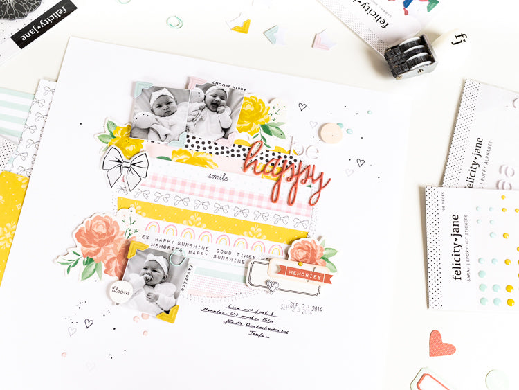 Be Happy Layout 2 | Ulrike Dold  | Felicity Jane