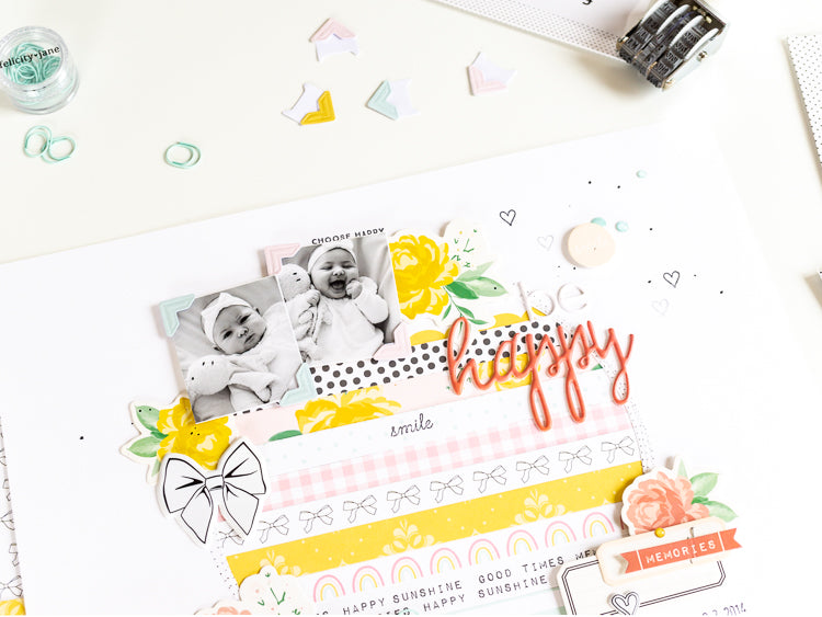 Be Happy Layout 3 | Ulrike Dold  | Felicity Jane