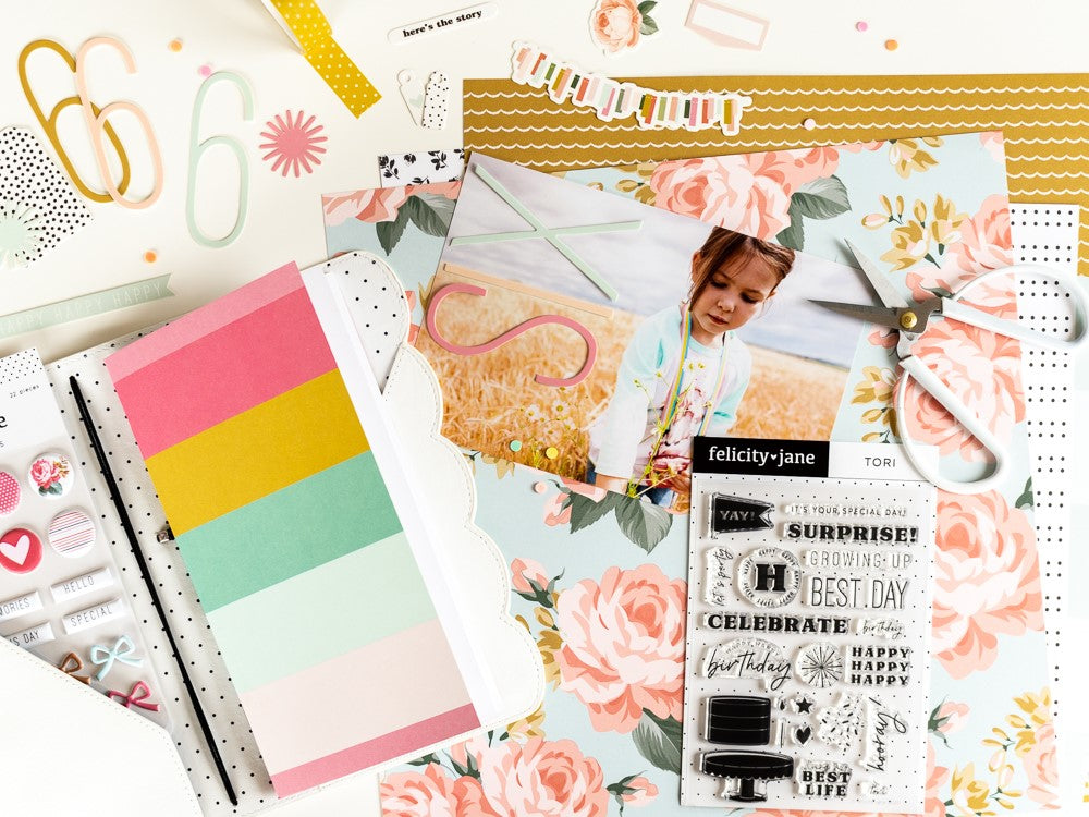 Traveler's Notebook Spread by Ulrike Dold for Felicity Jane