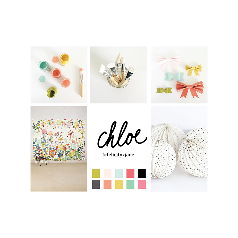 Felicity Jane Mood Board for April kits | Chloe