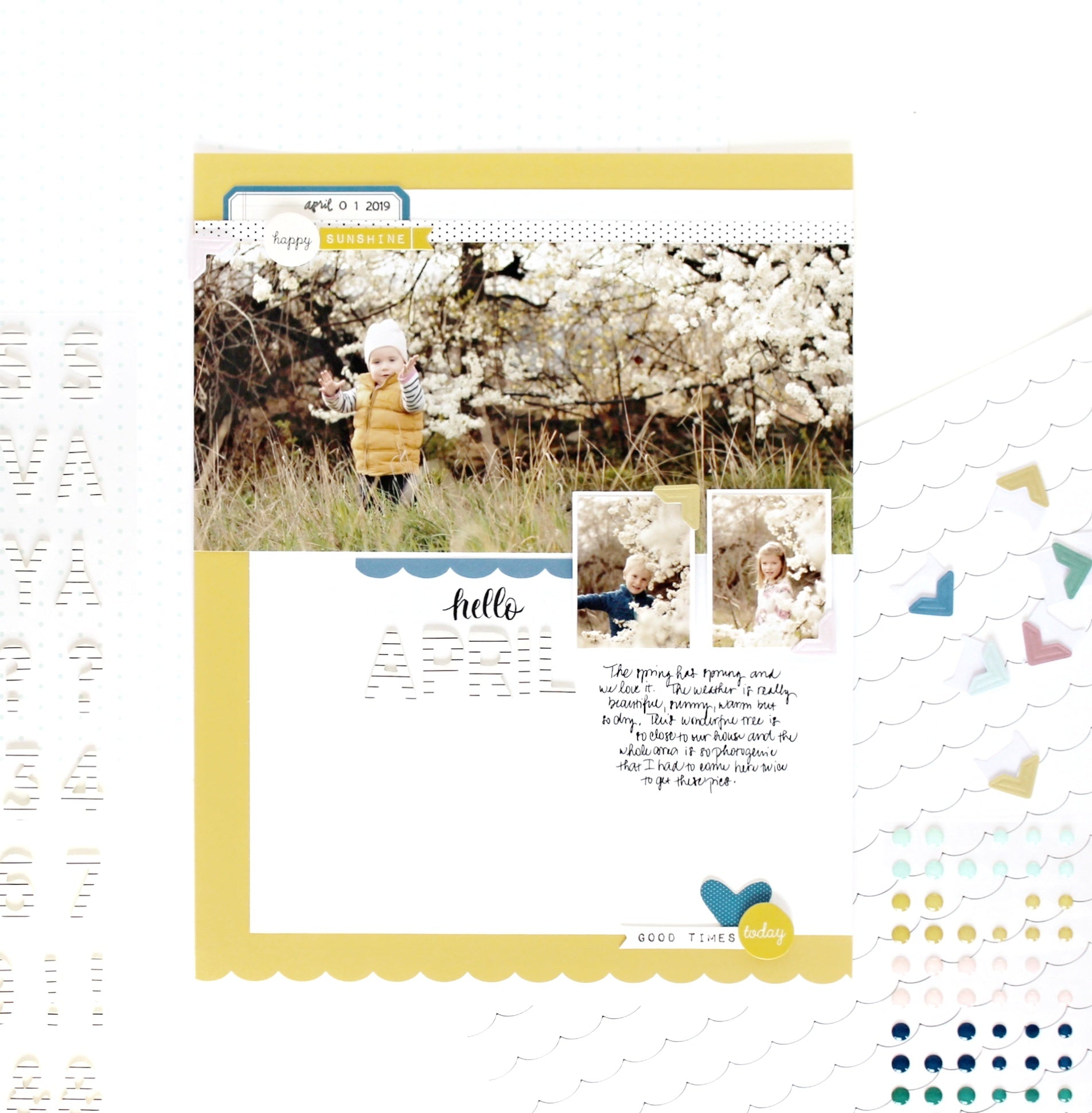 """Hello April"" layout 1 