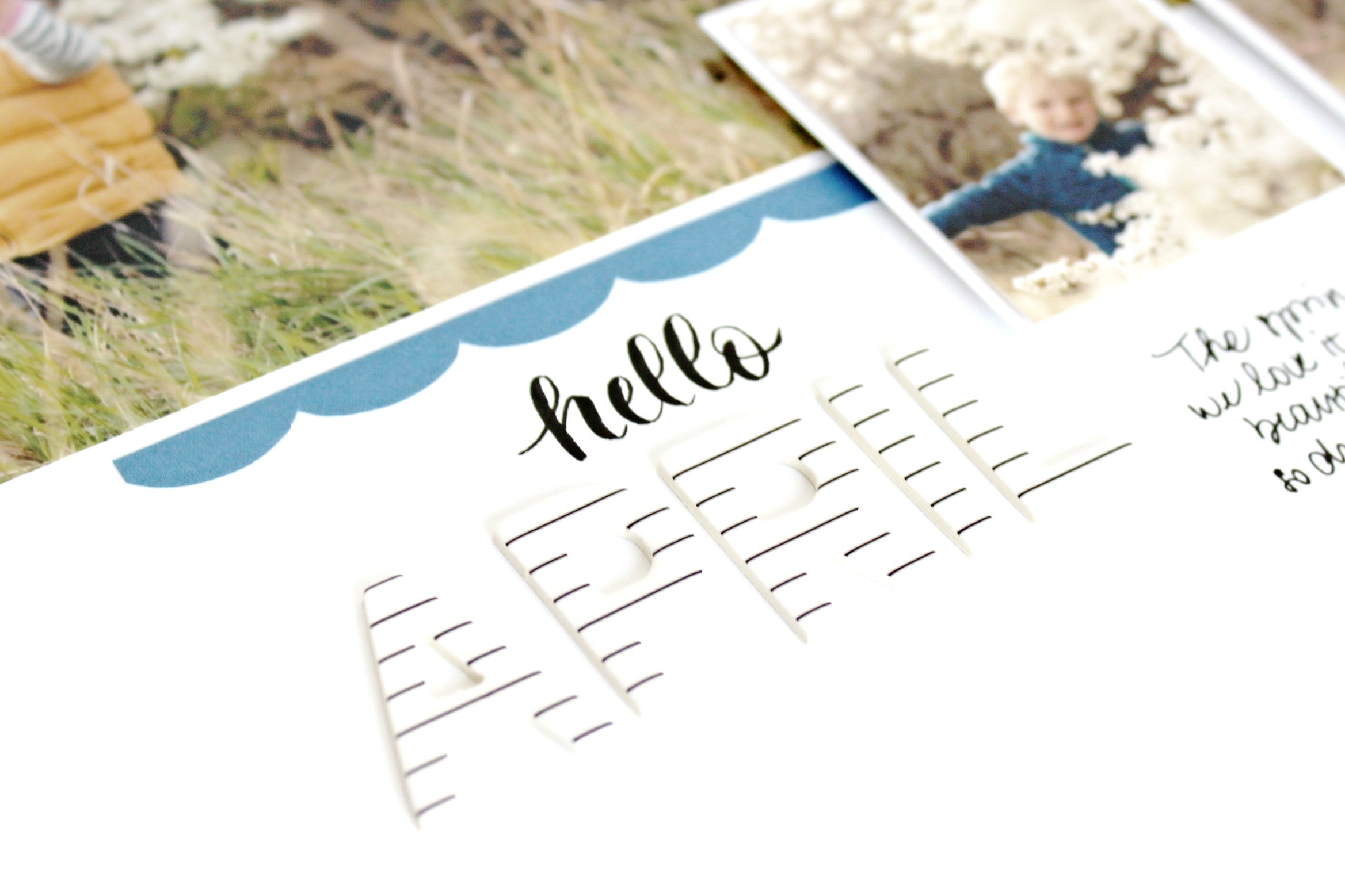 """Hello April"" layout 3 