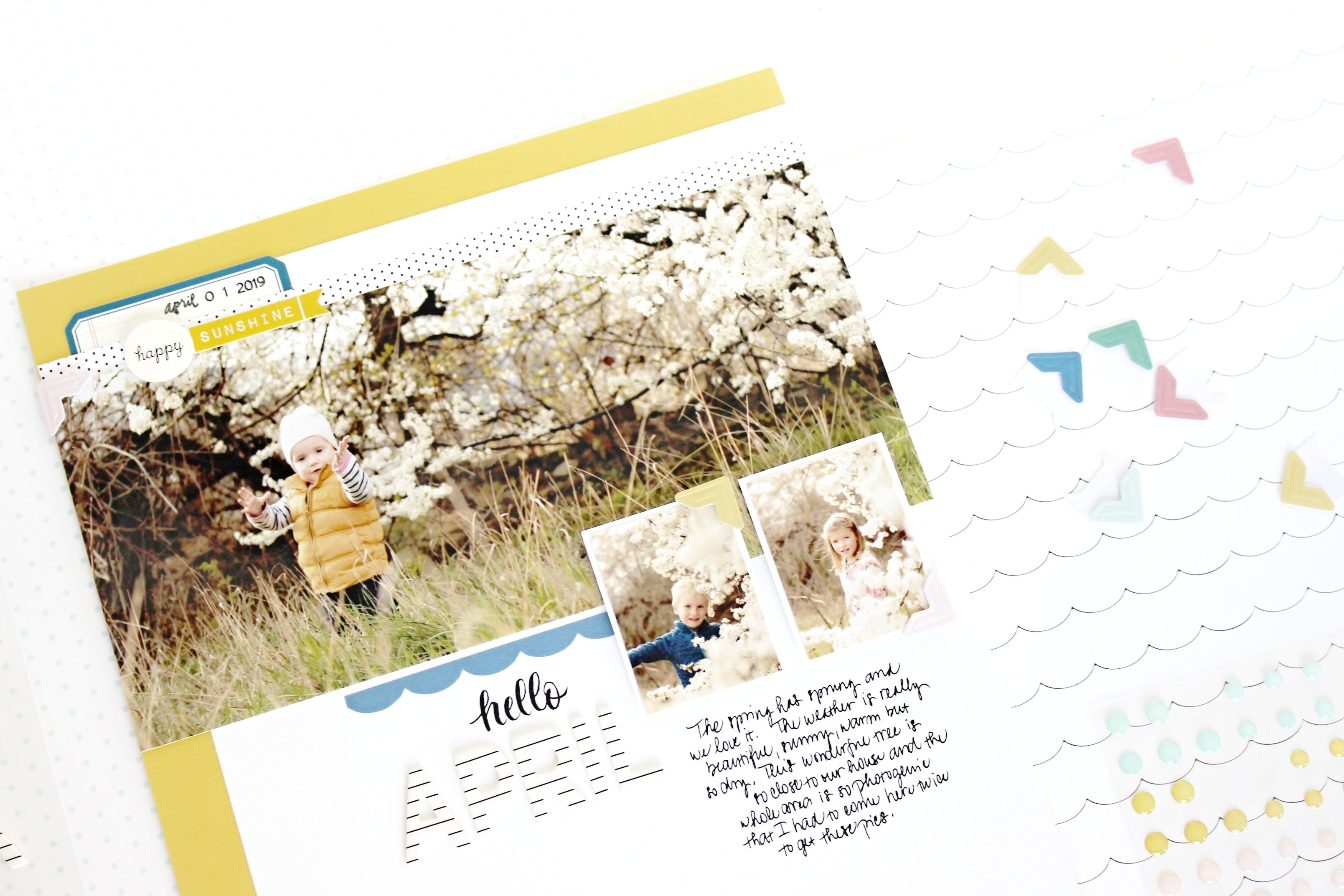 """Hello April"" layout 5 