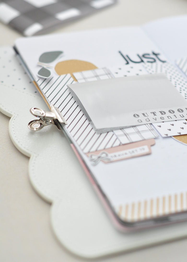 Traveler's Notebook Spread by Guest Designer Tatiane Pereira for Felicity Jane