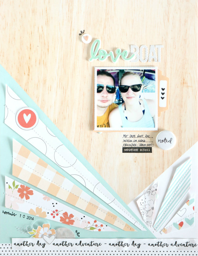 Love Boat Layout by Evelyn Wolff | @FelicityJane