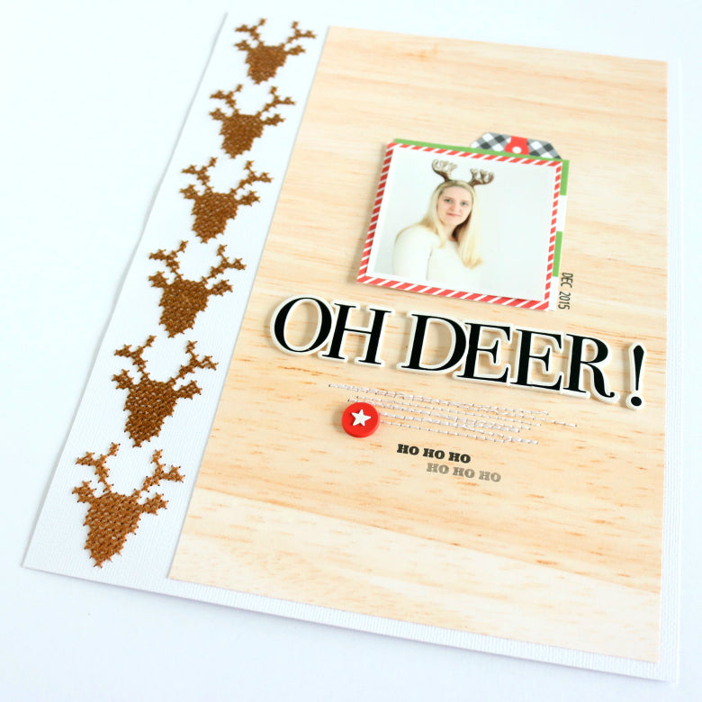 Oh Deer! Layout by Evelyn Wolff | @FelicityJane