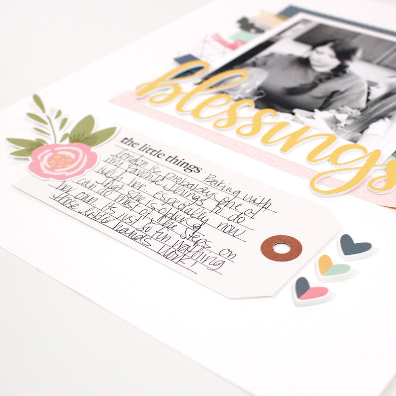 Blessings Layout by Banning Lane | @FelicityJane