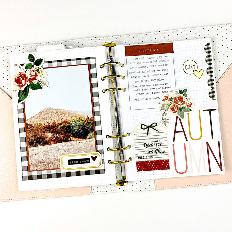Note to Self Binder Spread by Lindsey Lanning for Felicity Jane