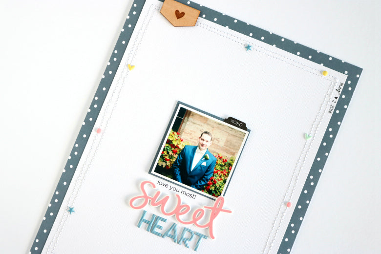 Sweetheart Layout by Evelyn Wolff | @FelicityJane