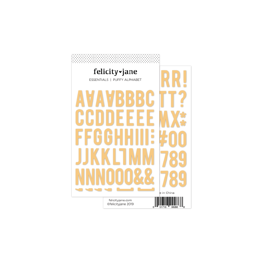 Essentials | Puffy Alphabet Stickers - Marigold