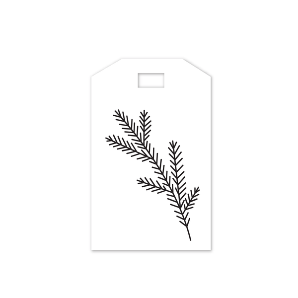 printable cut file | christmas pine tag