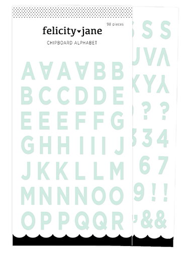 Chipboard Alphabet | Mint Green