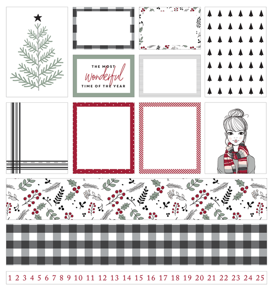 cut file | holly planner stickers