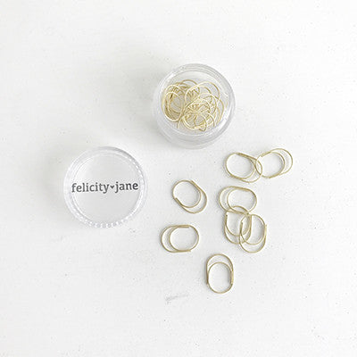 Miniwide Paper Clips - Gold