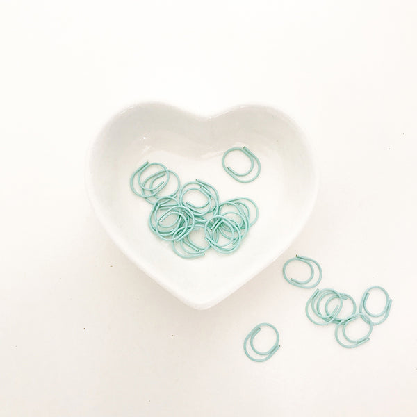 Essentials | Miniwide Paper Clips - Mint