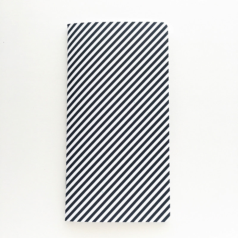 Traveler's Notebook Insert - Black & White Diagonal Stripe