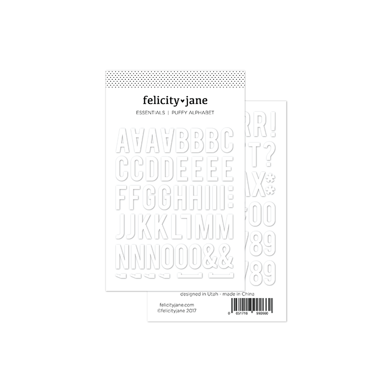 Essentials | Puffy Alphabet Stickers - White