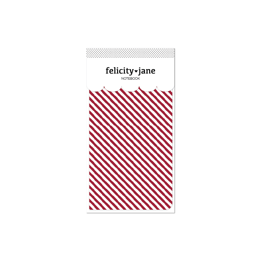 Traveler's Notebook Insert | Holly Candy Stripe