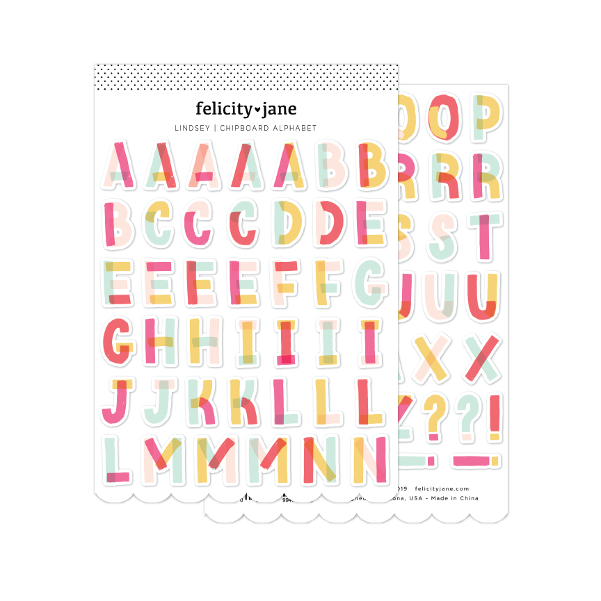 Lindsey | Chipboard Alphabet Stickers