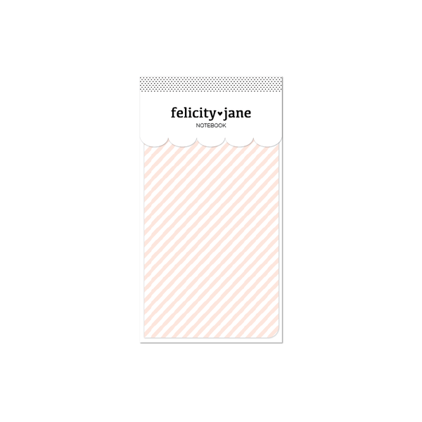 Traveler's Notebook Insert | Hannah Diagonal Stripe