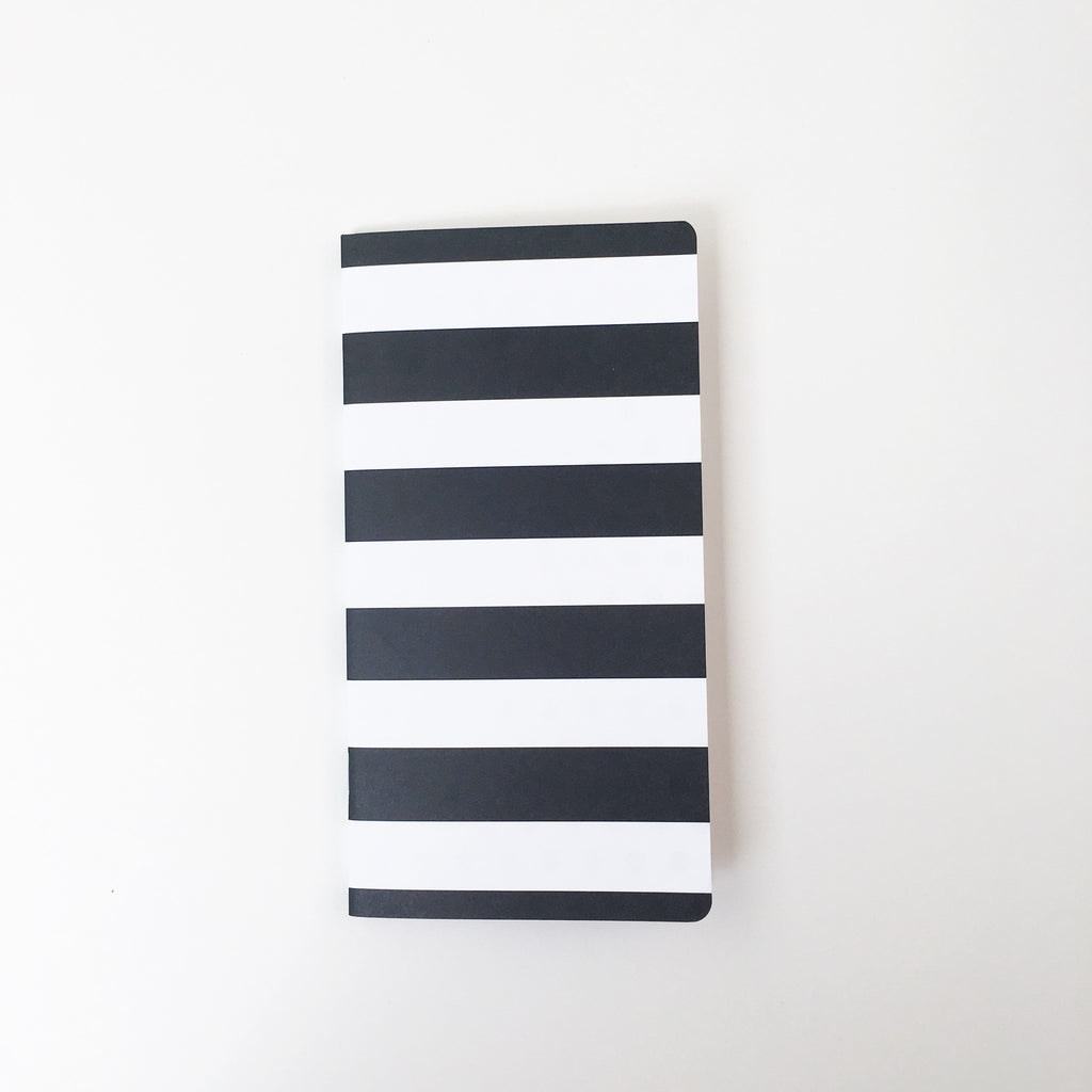 Traveler's Notebook Insert | Large Black & White Stripe