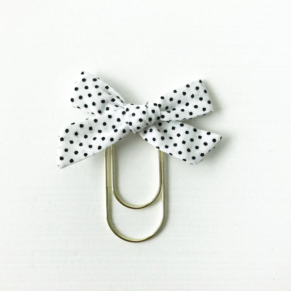 Mini Handtied Fabric Bow Clip | Rebekah Dot