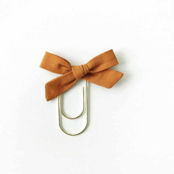 Mini Handtied Fabric Bow Clip | Rebekah Rust