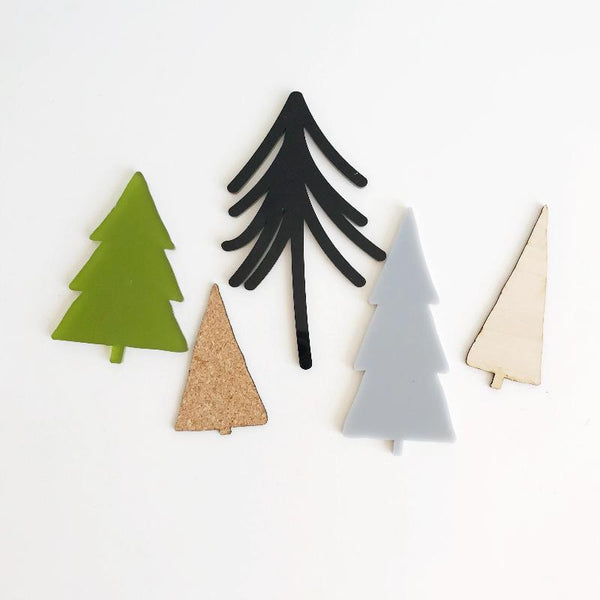 Noel | Wood, Cork & Acrylic Tree Set