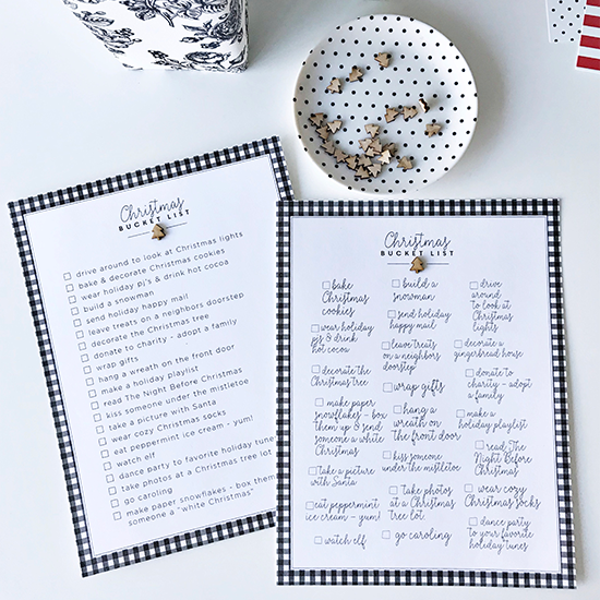 Printable | Christmas Bucket List - Scripty