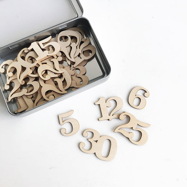 Wood Veneer Number Set